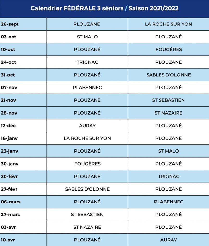 Calendrier Federale 3 2022 Calendrier Fédérale 3 séniors, saison 2021/2022   PAC Rugby